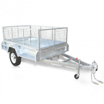 Premium Range 8 x 5 Heavy duty caged trailer